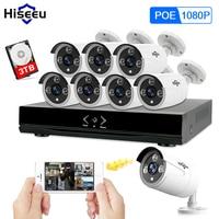 Full HD 8CH NVR 1080P POE 48V CCTV System Kit 2MP Indoor Outdoor IP Camera Waterproof