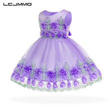 LCJMMO Princess Flower Baby Dresses Summer Lace Tutu Wedding