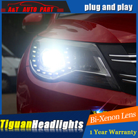 Auto Lighting Style LED Head Lamp for VW Tiguan led headlight assembly 2010 2012 Europe Vw drl H7 hid kit with 2pcs.