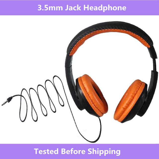 3.5mm Jack Portable Over Ear Headband Wired Earphone Gaming Headset Foldable Headphone For OPPO cellphone MP3 PC Table