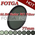 Fotga 77mm delgado fader nd filtro de densidad neutral variable de ajuste nd2 a nd400 ¡ nuevo! oem de la oferta