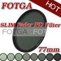 Fotga 77mm magro fader nd filtro de densidade neutra variável ajustável nd2 para nd400 novo! oferta oem