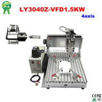 CNC 3040 Z VFD 4axis CNC Engraving Machine Used Lathe With Rotary Axis And 1 5KW