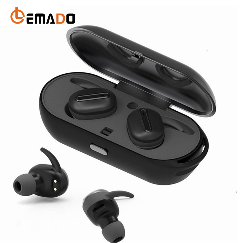 Wireless Bluetooth Headset Twins True Mini Earphone Stereo Earbuds In-ear headphones with Power Bank For Mobile Phone universal led sport bluetooth wireless headset stereo earphone ear hook headset for mobile phone with charger cable