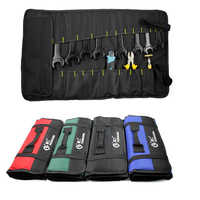 Multifunction Oxford Cloth Folding Wrench Tool Bag Roll Storage Pocket Tools Pouch Instrument Case Organizer Holder