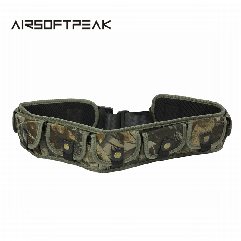 AIRSOFTPEAK 35 Rounds Hunting Ammo Belt Adjustable Shell Belt Tactical  Shell Bandolier Bullet Cartridge Belts With