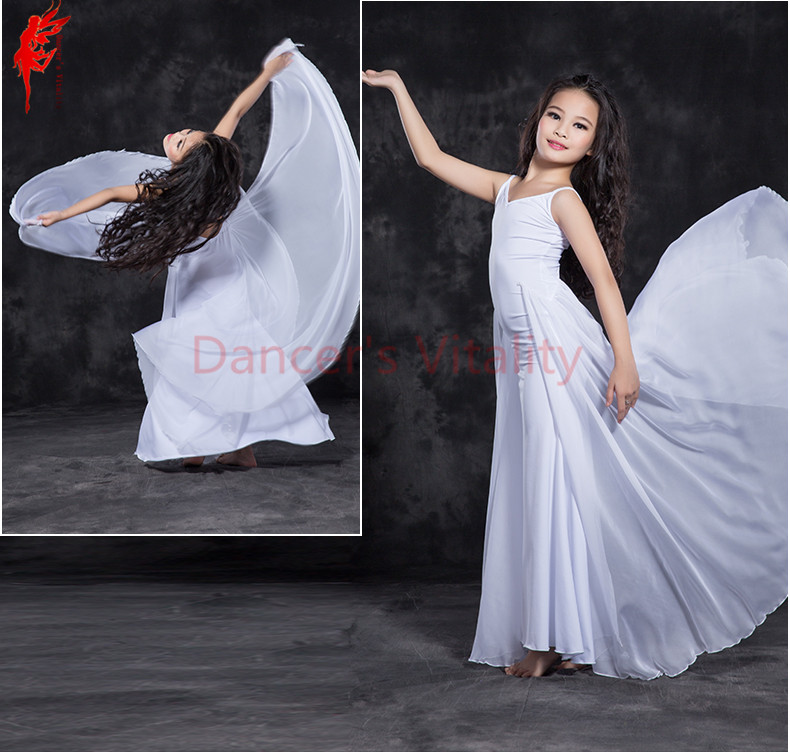Kids Luxury Belly Dancing Clothing Comfortable Modal Sleeveless Belly Dance Dress For Gilrs Ballroom Dance Dress S/M/L