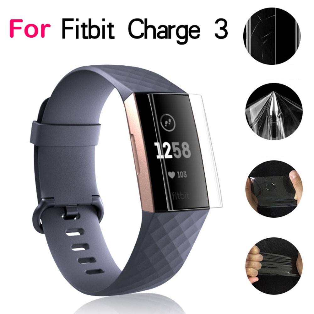 9H For Fitbit Charge 3 Explosion-proof TPU HD Full Cover Screen Protector Film For Fitbit Charge 3 O.15