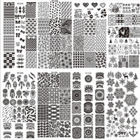 Ship From US High Quality Professional Fashion DIY Nail Latest 32 Styles Art Stamp Template Image