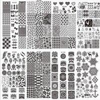 Buque De EE.UU. de Alta Calidad Profesional de Moda Últimas 32 Estilos Arte Del Clavo de DIY Plantilla del Sello Placas de la Imagen Que Estampa el Pulimento de Calcomanía