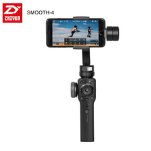 Zhiyun Smooth 4 3 eje Handheld Gimbal estabilizador para Smartphone Cámara de Acción teléfono iPhone X Gopro Hero 5 4 sjcam YI