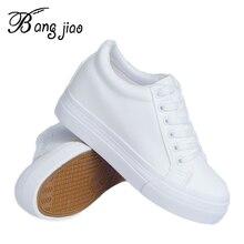 الأزياء منصة أحذية رياضية جديد الخريف النساء أحذية للمرأة حذاء كاجوال البرية منصة الكعوب الإناث الترفيه النساء رياضية بيضاء