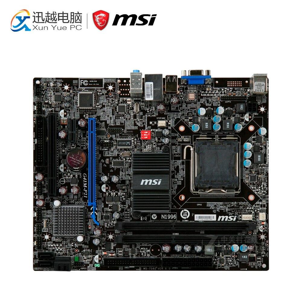 все цены на MSI G41M-P21 Desktop Motherboard G41 Socket LGA 775 DDR3 8G SATA2 USB2.0 Micro-ATX