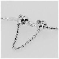 Adapte Pandora Bracelets Coeur Mickey Perles Chaîne De Sécurité Argent Perles Nouveau 100% 925 Sterling Silver Charm BRICOLAGE Bijoux En Gros