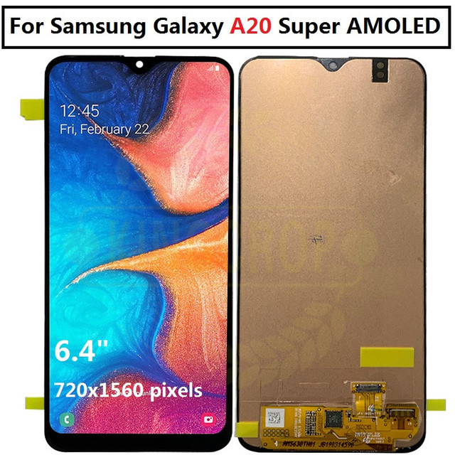 ebac521a7478fe For Samsung galaxy A20 lcd Digitizer A205/DS A205F A205FD Display Touch  Screen with frame