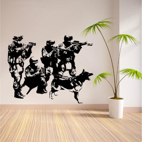 Free Mail Team Military Army Soldiers Wall Sticker Home Decor Vinyl Wall  Decals Wall Mural Art