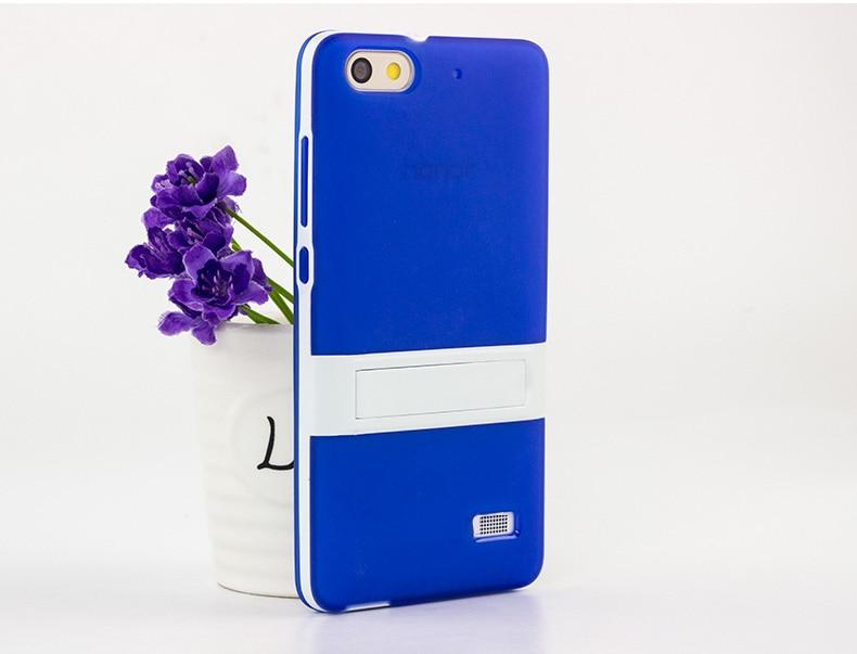 Ultra-thin PC Frame Soft Case Huawei Honor 4C Cover TPU Silicon Case - Բջջային հեռախոսի պարագաներ և պահեստամասեր - Լուսանկար 3