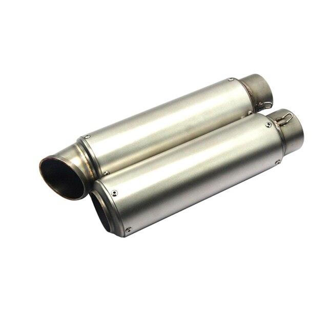 51 мм или 60 мм два размера мотоцикл выхлопной трубы Escape мото Глушитель Трубы чехол для CB400 R6 R15 Z750 ER6N TMAX 500 TFTY001