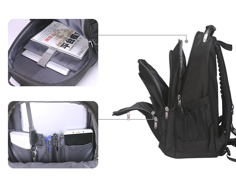 Aoking Original Brand New Patent Design Massage Air Cushion1 Men's Laptop Backpack Men Large Capacity Nylon Comfort Backpacks 5