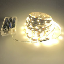 3AA Battery Power 50CM 1M 2M 3M 4M 5M LED strip light SMD352