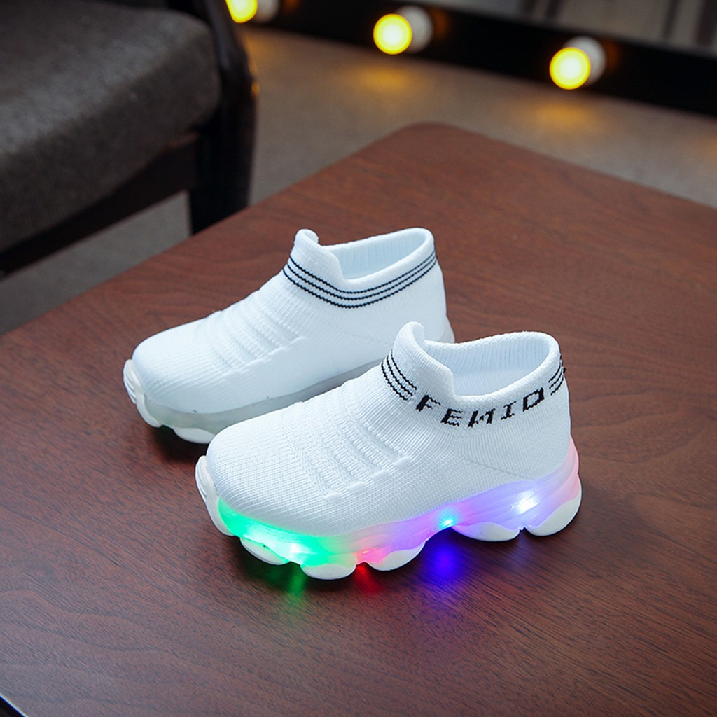 LED Letter Pattern Breathable Sneakers 2