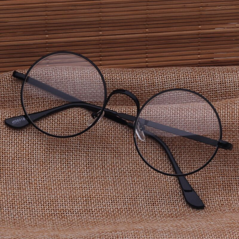 10001  Blu-ray-proof circular retro-glasses frame for ladies of art and metal optical glasses