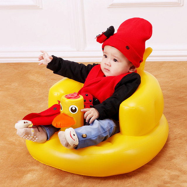 0 12 Month 1 3 Years Old Baby Learn Seat Children Sofa Small Portable Chair Inflatable Kids