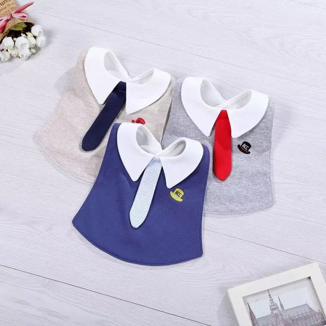 2018 New Bibs Cotton Waterproof Baby Bib Gentleman Tie Baby Scarf Adjustable Kids Babador Bandana Infant Accessories