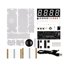 DIY Kit Red LED Electronic Clock Microcontroller Digital Clock Time Thermometer With Talking Clock and PDF