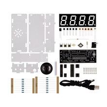 DIY Kit Red LED Electronic Clock Microcontroller Digital Clo