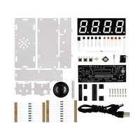 Kit diy led vermelho relógio eletrônico microcontrolador digital relógio tempo termômetro com falar relógio e pdf