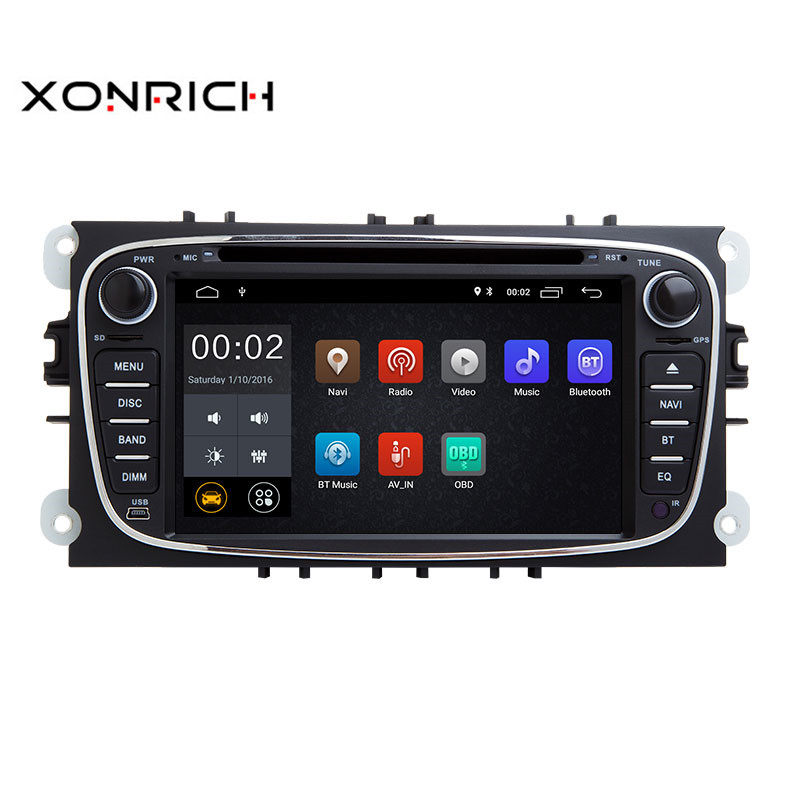Xonrich AutoRadio 2 Din Android 8.1 Car DVD Player For Ford Focus 2 S-Max C-Max Mondeo 4 Galaxy Kuga 2008-2010 GPS Tape RecorderXonrich AutoRadio 2 Din Android 8.1 Car DVD Player For Ford Focus 2 S-Max C-Max Mondeo 4 Galaxy Kuga 2008-2010 GPS Tape Recorder
