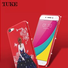 TUKE Case For OPPO A33 Celular Luxury Beauty Girls Rhinestone Soft Silicone  TPU Cover For OPPO Neo 7 A33 A 33 Housing Etui c6cf7c824c8a