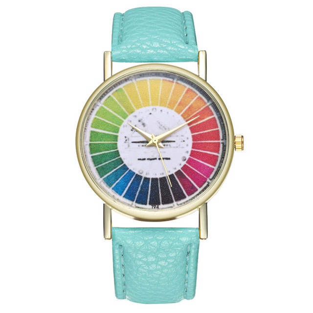 LASPERAL Colorful Ladies Watch Student Quartz Hours Ladies Dress Wrist Watch Rel