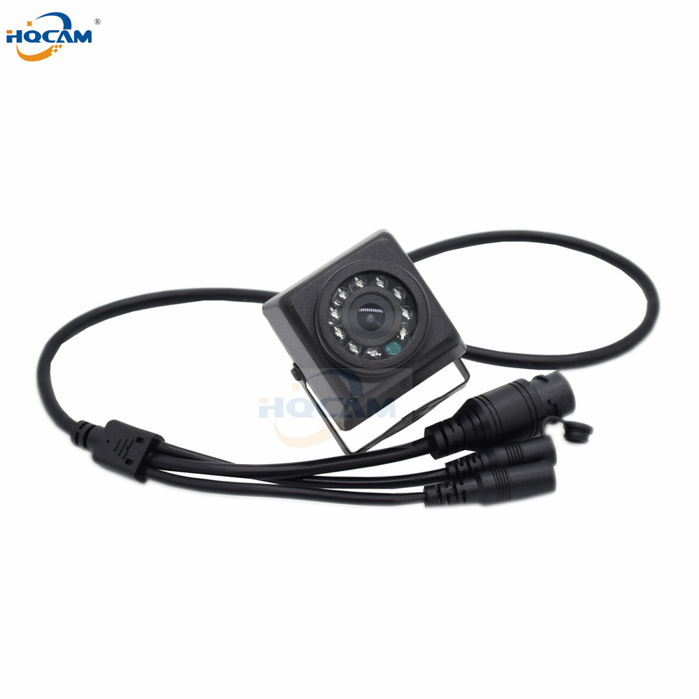 HQCAM Waterproof Outdoor IP66 720P HD Mini IP Camera Motion Detection Night Vision SD Card Support