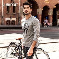 SIMWOOD Hoodies Men 2018 Spring New Slim Fit Fashion Embroidery Letter Sweatshirts 100 Pure Cotton Pullover