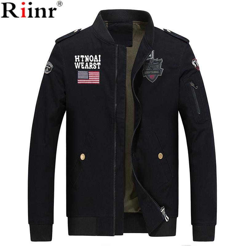 Riinr Bomber Jackets Men 2017 Military Beige Jacket Men Autumn Jackets Mens Coats Army Outdoors Army Jacket Homme Coat