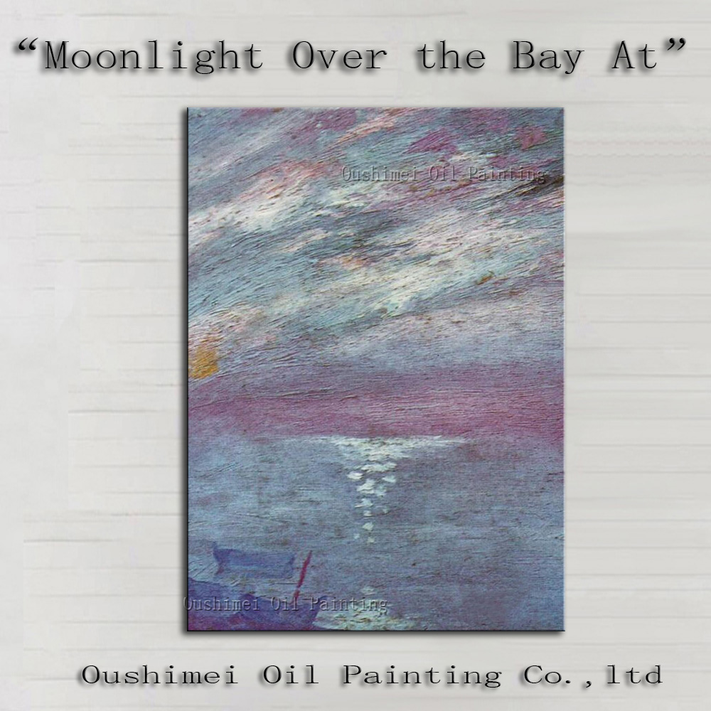 Monet Painting Handmade Imitation Landscape Paintings on Canvas Abstract Traditional Painting Hang Picture Famous Oil Painting