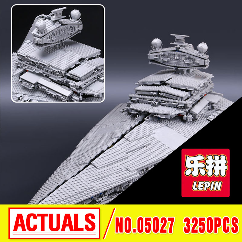 LEPIN 05027 3250pcs Star  Fighters Starship Model Building Kit Blocks Bricks Assembling Toy Compatible with 10030   wars new lepin 05027 3250pcs star wars imperial star destroyer model building kit blocks bricks compatible legoed toys 10030