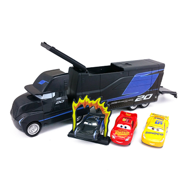 Us 18 99 32 Off Disney Pixar Cars 3 Jackson Storm Uncle Container Truck Lightning Mcqueen Plastic Cars Model Best Birthday Gift Toy For Boy Kid In