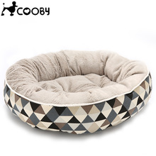 Dog-Beds Sofa Pet-Kennels-Beds Puppy-Bed Cats-Mat Cat-House Pets Dogs Plaid Washable