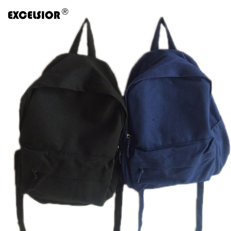 EXCELSIOR 2017Famous Brand Backpack Women Backpacks Solid Vintage Girls School Bags for Girls Denim canvas bag mochila feminina vintage casual leather travel bags famous brand school backpacks women bag mochila backpack lovely girls school bags ladies bag