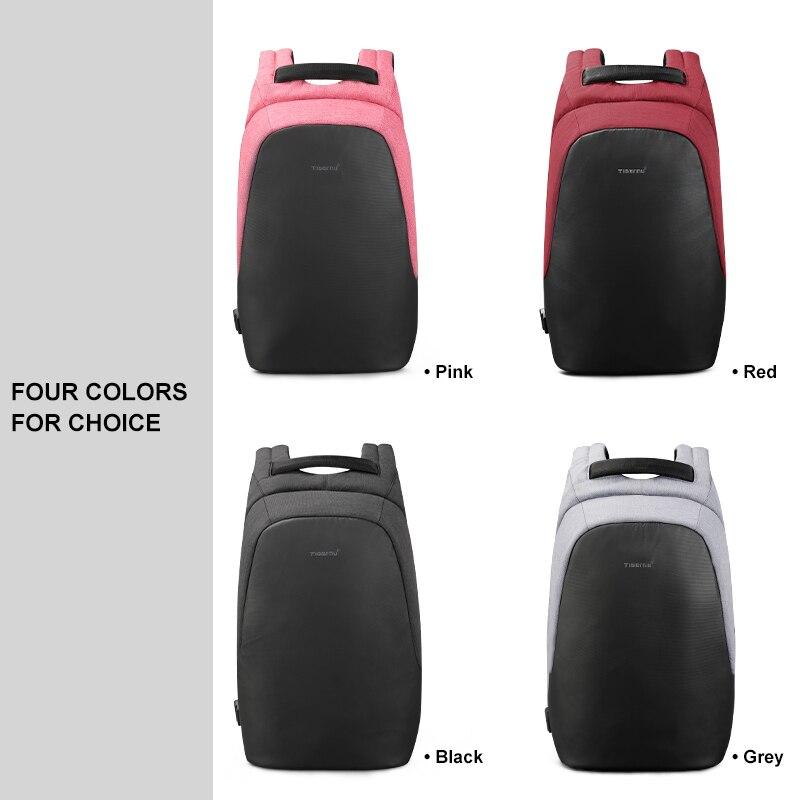 Anti-vol hydrofuge 15.6 pouces USB charge casual hommes sacs à dos sac d'école sac à dos femme mâle pour adolescents filles - 6