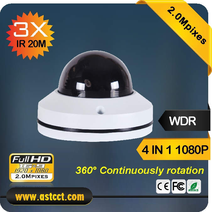 2017 Newest Motroized Zoom AHD PTZ camera AHD 1080P 2.0Megapixels waterproof PTZ camera with IR20m support UTC coax control