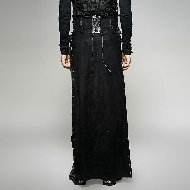 Fendue Black Cargo Noir Pantalon Personnalité Jupe Mâle Q Type 298m Steampunk Punk Lâche Hommes Qualité Rave Occasionnel Gothique f1qwx6Z