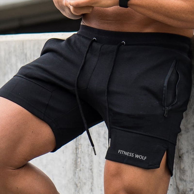 Summer Men Sporting Shorts Joggers Casual Gyms Cotton Bodybuilding Sweatpants Fashion Embroidery Brand Men's Clothing