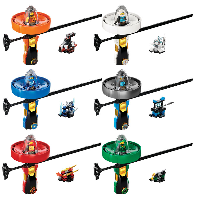 Ninja Kai Jay Zane Figures Spinners Ninjago Spinning Top Building Blocks Compatible Legoingly Bricks Educational Children Toys