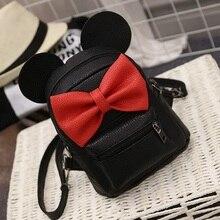 LEFTSIDE 2016 Summer new female bag quality pu leather women bag Cute Animal backpacks ears sweet bow College Wind mini backpack