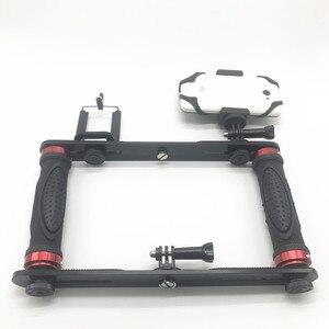 Image 2 - כפול זרוע צלילה צלילה סוגר פנס מגש מייצב הר עבור Sony Gopro SJCAM פעולה מצלמה, Camcoders, Smartphone