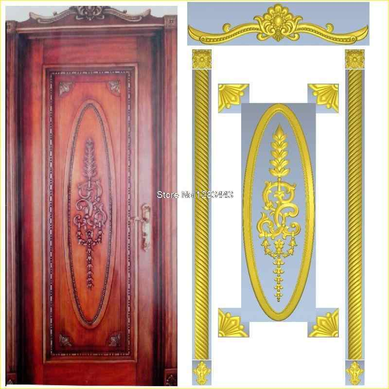 6pcs/lot Door_10 3D Model STL relief for cnc STL format Furniture 3D STL format furniture decoration